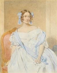portraits of ladies (3 works) by octavius oakley