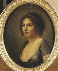 portrait de jeune femme by marie-denise villers