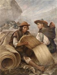 quuecha-indianer in den anden by a. valdez