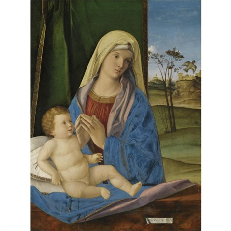 the madonna and child with a goldfinch by giovanni bellini