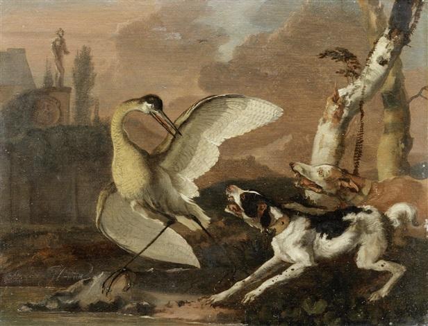 a heron hunt by abraham danielsz hondius