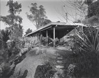 dwp john ferraro building los angeles, case study house, untitled (case study house california), exterior shot (4 works) by julius shulman