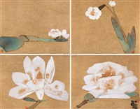 春天里 (spring) (4 works) by lin lan