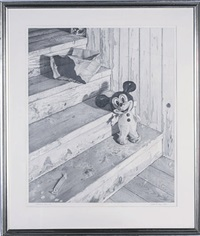 staircase still-life with mickey mouse by scott prior