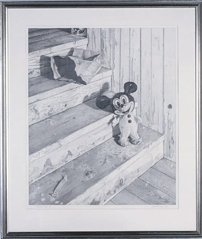 staircase still life with mickey mouse by scott prior