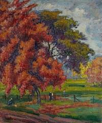 paysage d'automne by jean misceslas peské