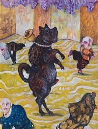 animali di esopo, il cane con la campanella (il cane e il sonaglio) by antonio possenti