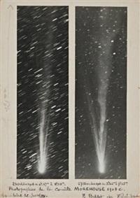 comète morehouse à l'observatoire de juvisy (2 works) by fernand balder and ferdinand quenisset