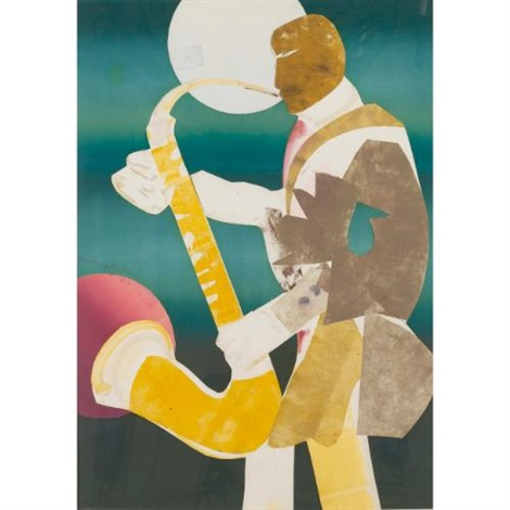 solo flight by romare bearden