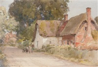 cottages at blewbury, oxfordshire by henry jarvis