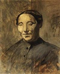 a portrait of a woman by willem van konijnenburg