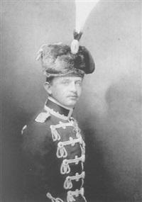 bildnis kaiser karl i. von österreich in preussischer husarenuniform by hermann clemens kosel