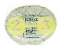 untitled (plate) by grayson perry