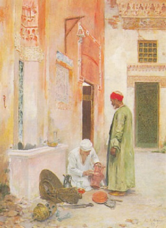 arab merchants by albert emile artigue