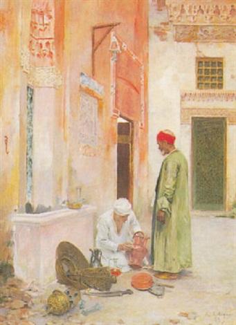 arab merchants by albert emile artigue