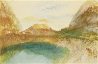 a swiss lake scene, possibly brienz by joseph mallord william turner