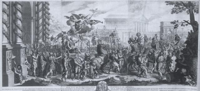 der triumphzug konstantins in rom mit der dedikation an friedrich wilhelm i von preußen by jan van vianen