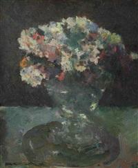 flowers in a vase by kees verwey