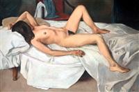 reclining nude by eben van der merwe