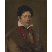 portrait of a young man by jean baptiste joseph wicar