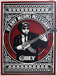 by any means necessary set (3 works) by shepard fairey