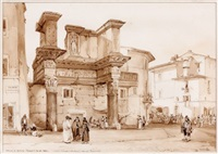 vue du forum de nerva, rome by achille vianelli