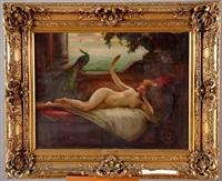 femme nue allongée sur un divan by emile tabary
