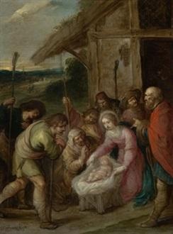 la adoración de los pastores by frans francken the younger