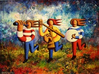 three piece band by alan kenny