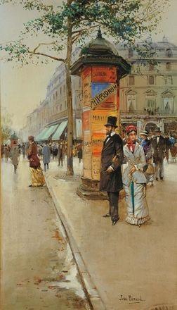 scorcio di strada parigina by jean béraud