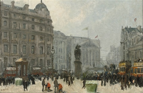 a view from trafalgar square by jacobus cornelis wyand cossaar