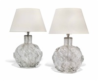 crepuscolo table lamps (pair) by ercole barovier