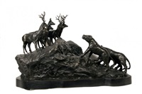 lions and deer by a. ganso