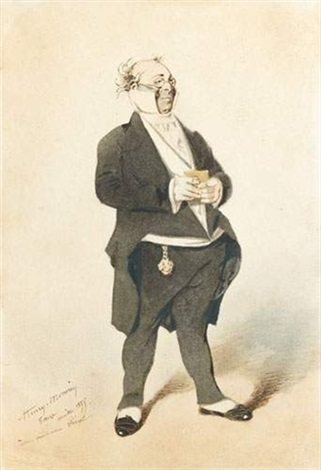 Caricature Homme caricature de monsieur prudhommehenry bonaventure monnier on artnet