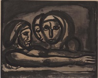 au pressoir le raisin fut foule, from miserere by georges rouault