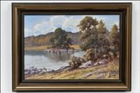 järvimaisema - sjölandskap by arthur heickell