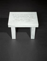 die fast and quiet... (from the survival series) by jenny holzer