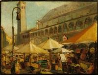 mercato in piazza delle erbe a padova by armando tonello
