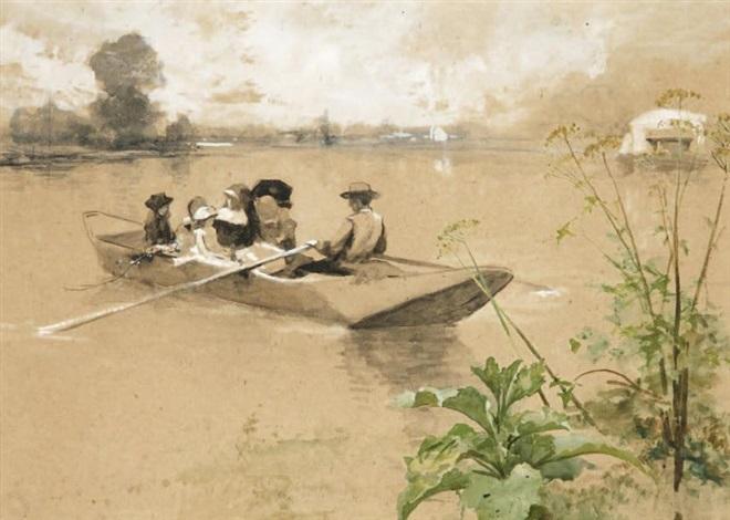 la promenade en barque by ferdinand heilbuth