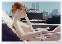 roof-top sunbather (from the city scapes) by hilo chen