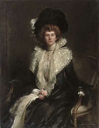 portrait of a lady by hugh de twenebrokes glazebrook