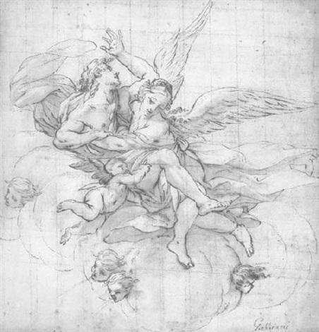 une déesse enlevant un homme by anton domenico gabbiani