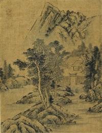 landscape (산수도 山水圖) by jung sooyoung
