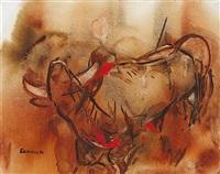 bellowing bull by desmond carrick