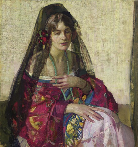 black mantilla by richard edward miller
