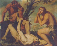 adam and eve lamenting the death of abel by michele ragoglia