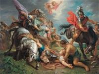 die bekehrung pauli (after rubens) by jacob andries beschey