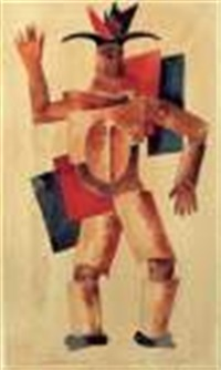 projet de costume : belzébut pour une pièce de maikowski jouée au théâtre meyerhold à moscou en 1921 by victor kiselev