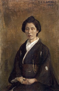 portrait of chika tani by shigeru aoki