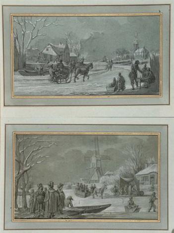 scènes hivernales pair by jean baptiste joseph wicar